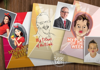 CARICATURE COLOUR BOARD PLANNER IN